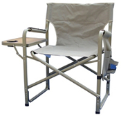 DIRECTOR CHAIR W/SIDE TRAY KHAKI